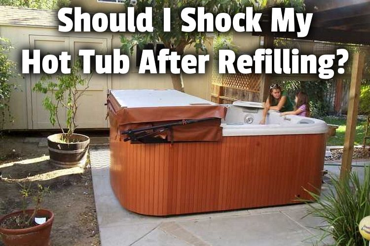 empty hot tub being filled up